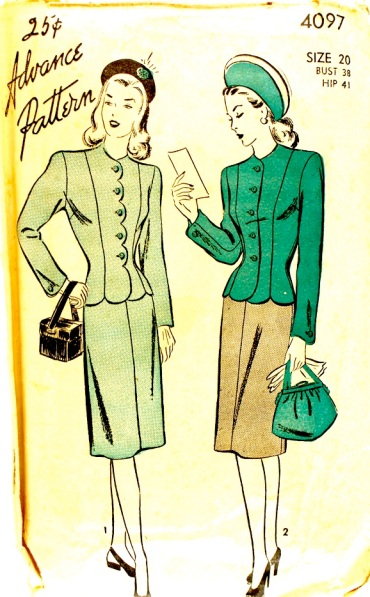 Advance 4097 Scalloped Hem Jacket circa 1940s