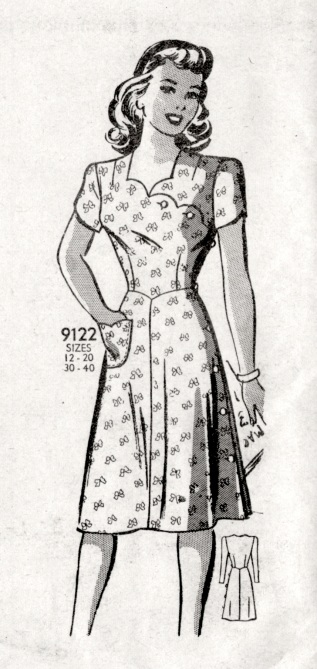 1940s Vintage Marian Martin Mail Order Pattern 9122