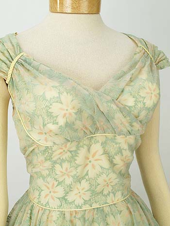 floral flocked organza true vintage 2
