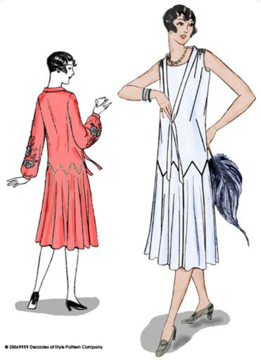 1925 Zig Zag Flapper Dress #2502