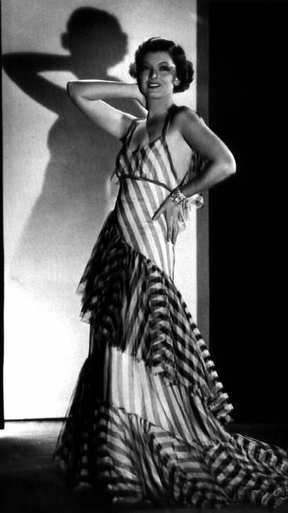 "Striped dress from ""The Thin Man"""