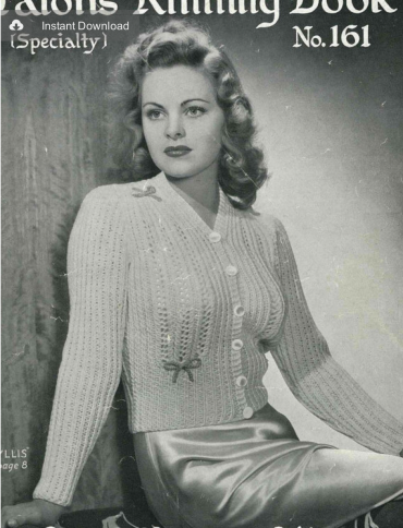 1940s Phyllis bed jacket
