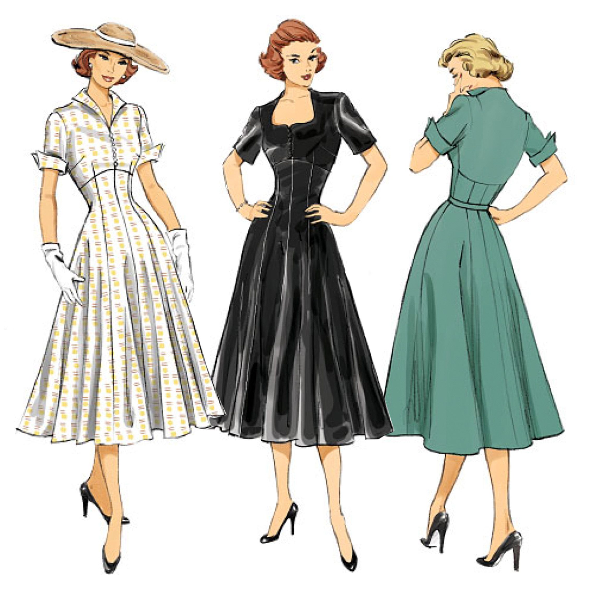 Retro Patterns for Dresses