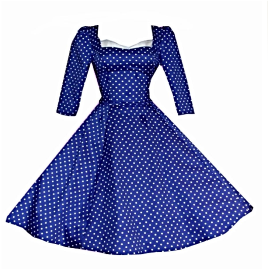 Blue polkadot swing