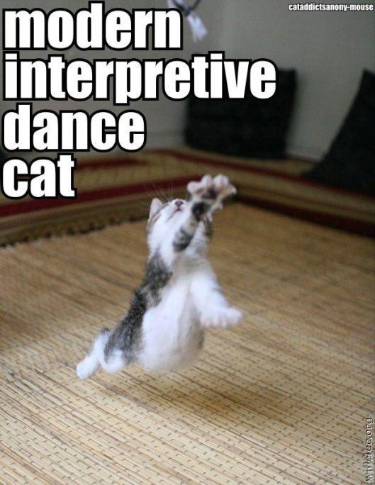 modern dance kitty