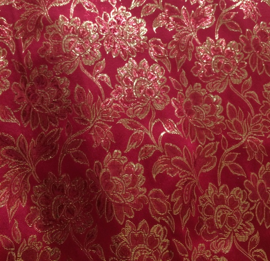 Red gold brocade